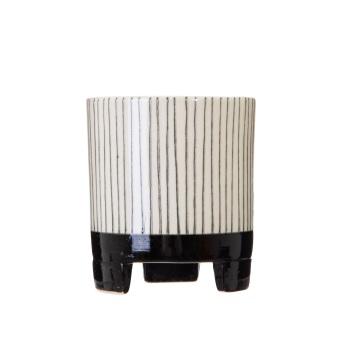 Small Striped Monochrome Planter