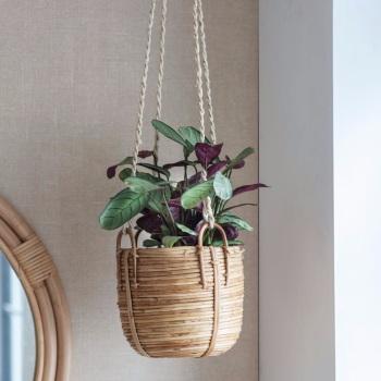 Rattan Hanging Plant Pot