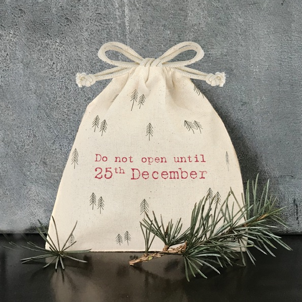 Drawstring Bag- Do Not Open until 25th December