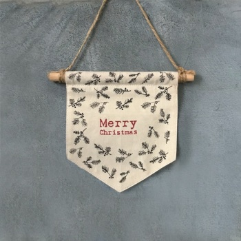 Merry Christmas Fabric Pennant