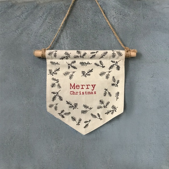 Merry Christmas Fabric Pennant