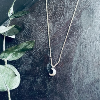 Puff Moon Necklace