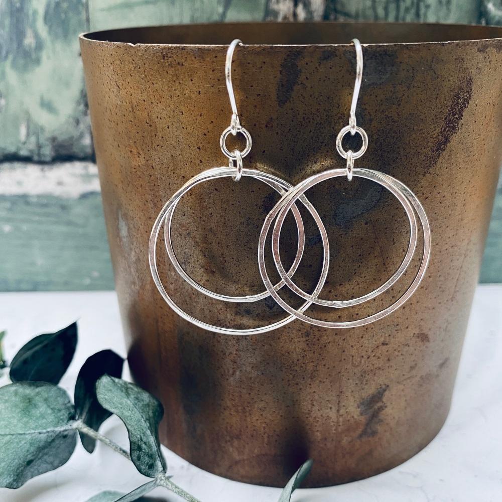Double Hoop Dangly Earrings