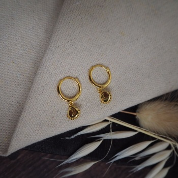 Gold Plated Moon Hoops