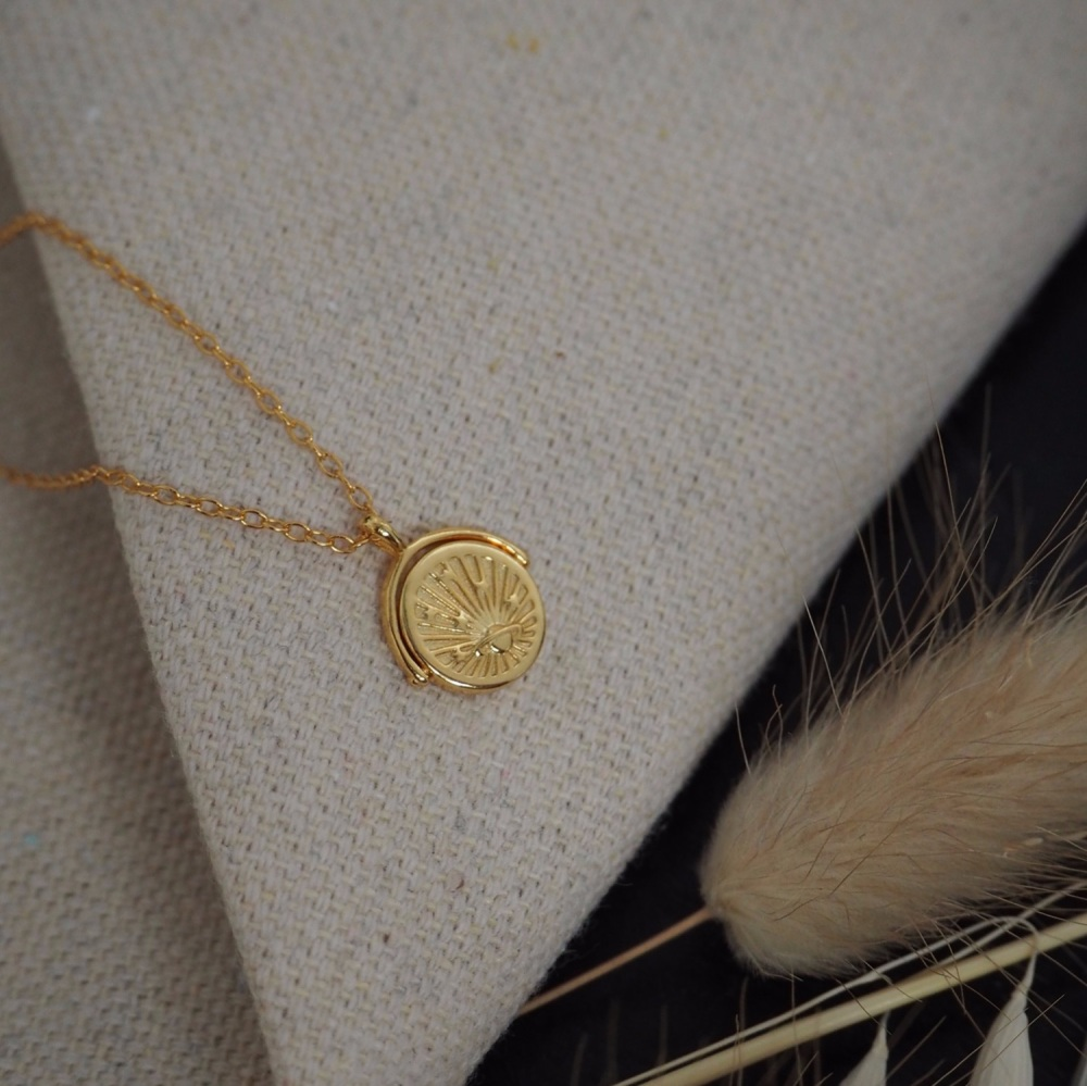 Gold Plated Planet Necklace