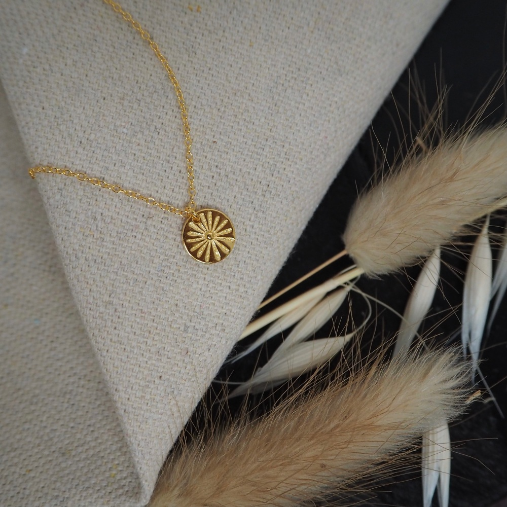 Gold Plated Fireworks Necklace