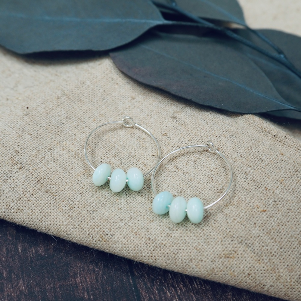 Natural Stone Hoops