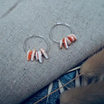 Chipped Shell Earrings