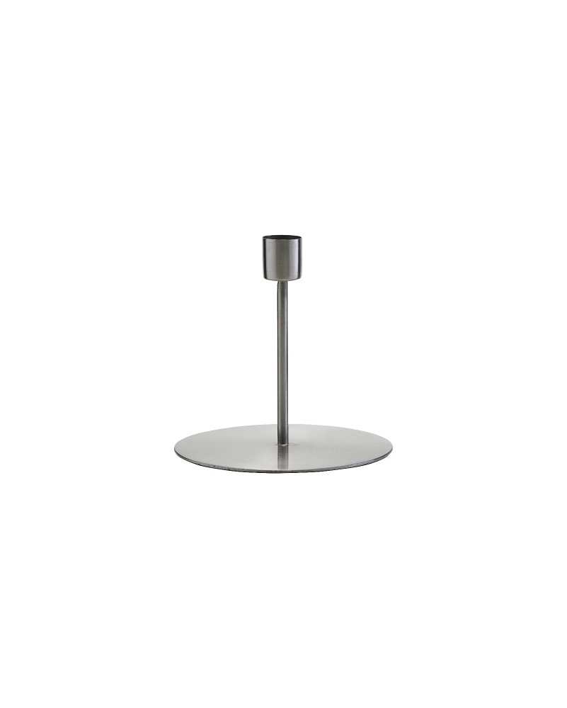 House Doctor Silver Candle Stick (Short)