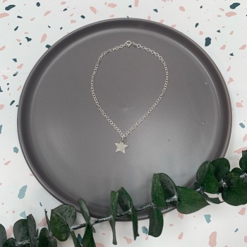 Sterling Silver Anklet Chain with Charm
