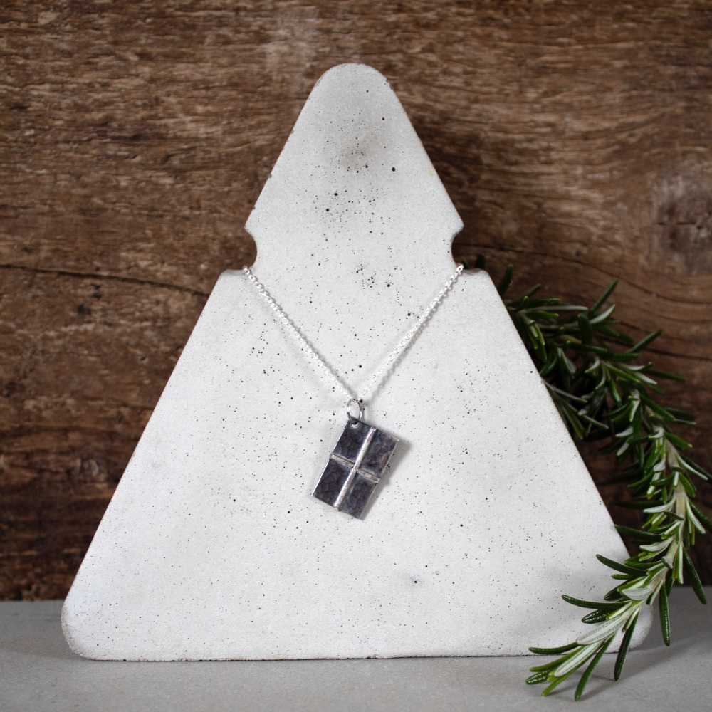 Cornwall My Home Cornish Flag Necklace