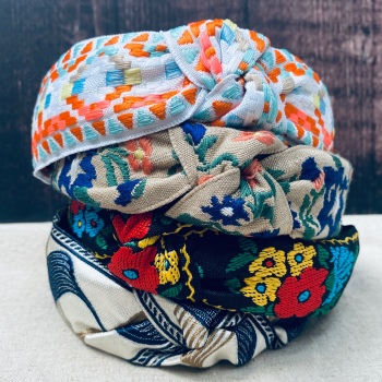 Patterned Twist Knot Headbands - Spring/Summer Collection