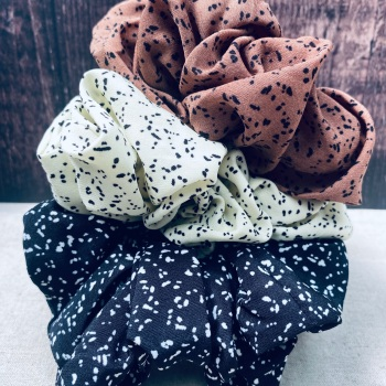 Speckled Large Scrunchie