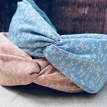 Pastel Floral Twist Knot Headband
