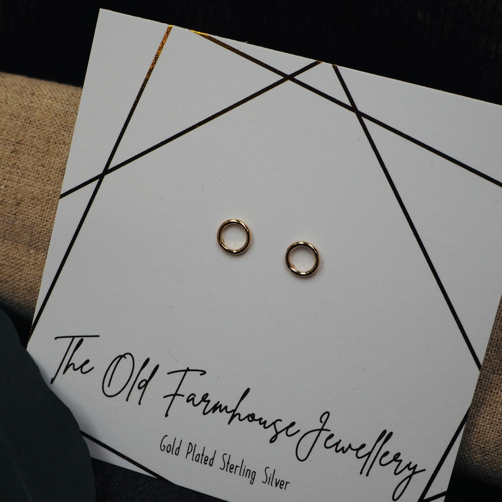 Gold Plated Hoop Studs