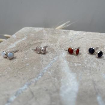 4mm Stone Setting Stud Earrings