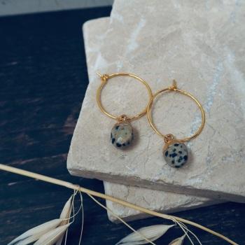 Gold Plated Oval Hoop Earrings
