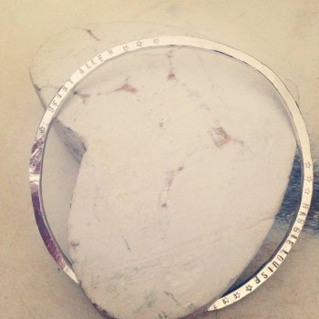 flattened Bangle which can be personalised