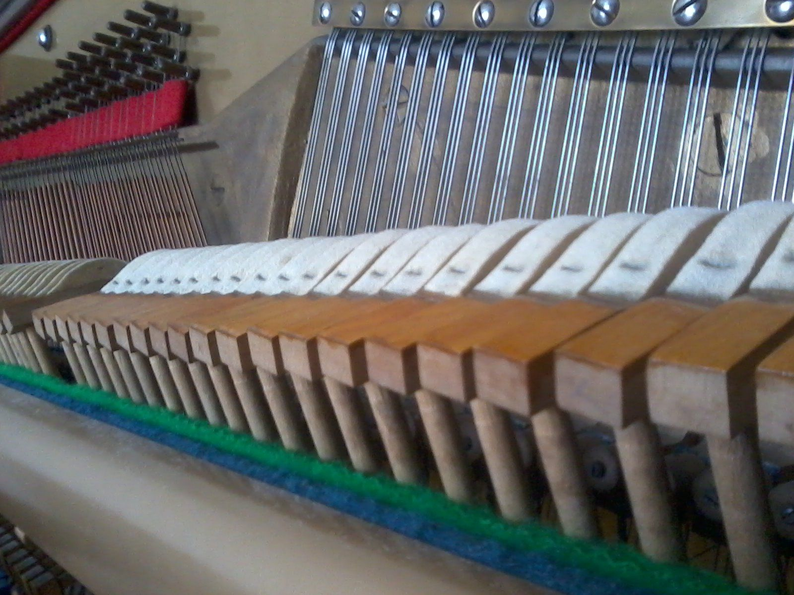 Piano Action and Hammers