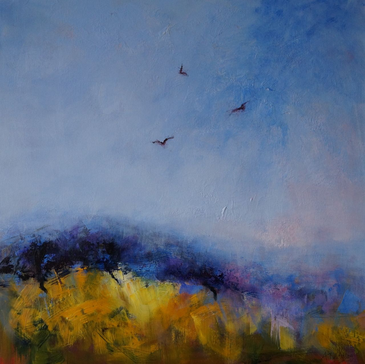 'Circling Crows Golden Field' © Alison Tyldesley