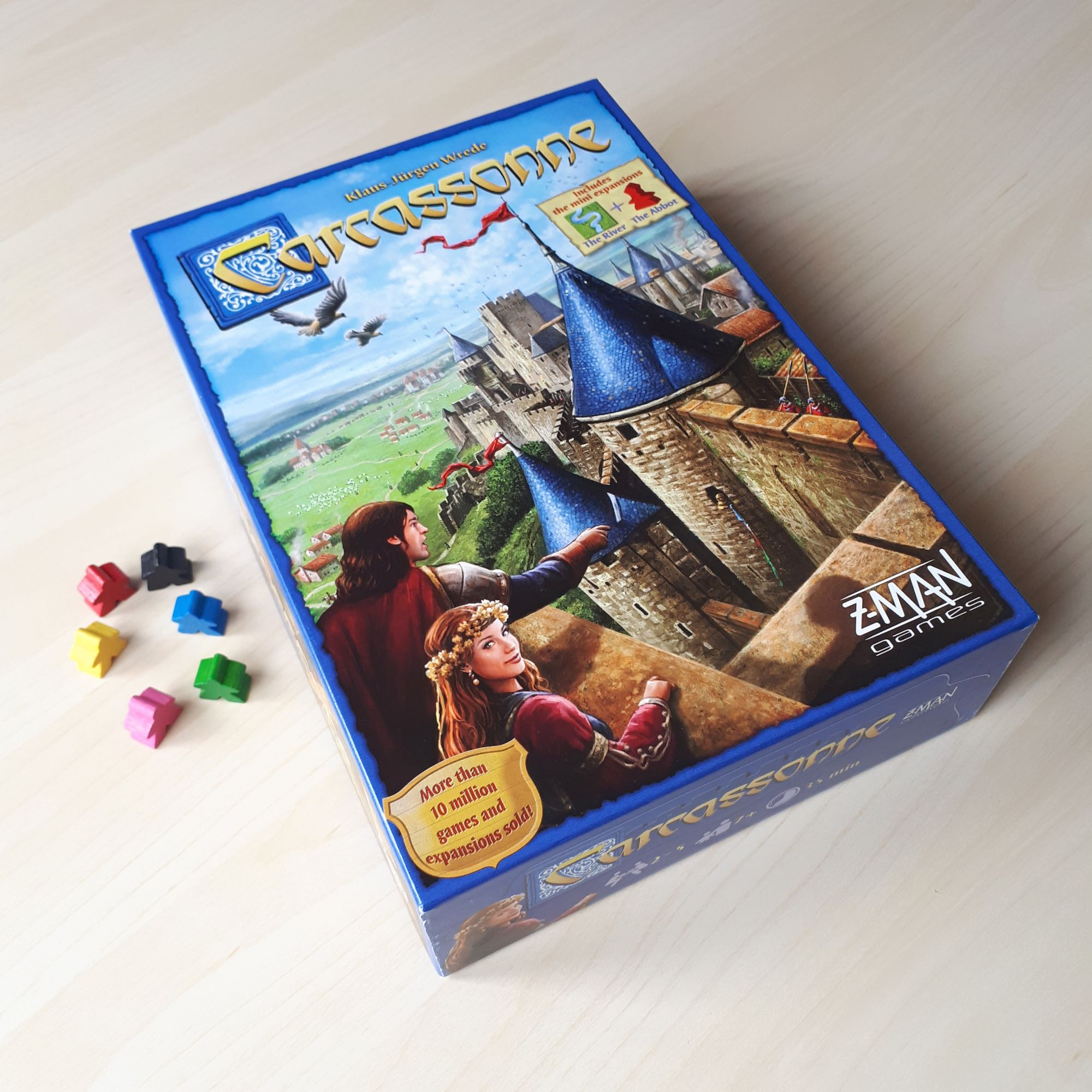 Carcassonne Game and Meeples