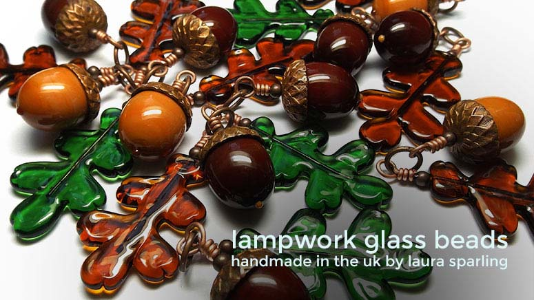 'Acorn & Oak Leaf' necklaces by Laura Sparling