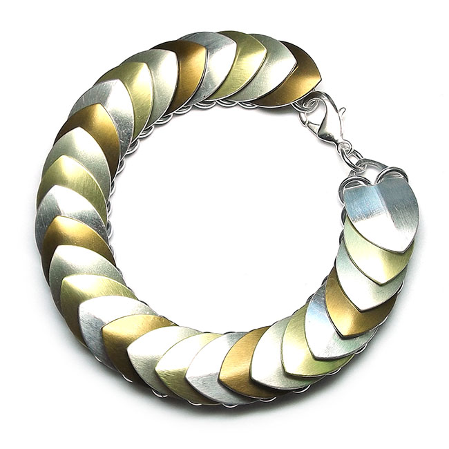Mixed Metals 'Scale Maille' Bracelet