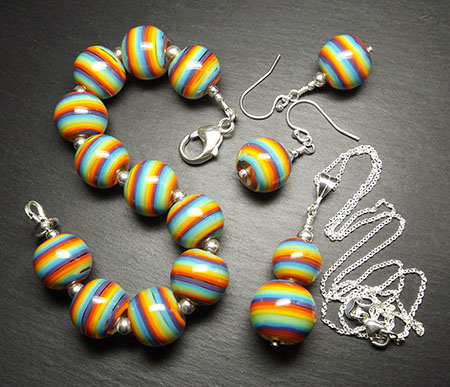 'Rainbow' Jewellery Set