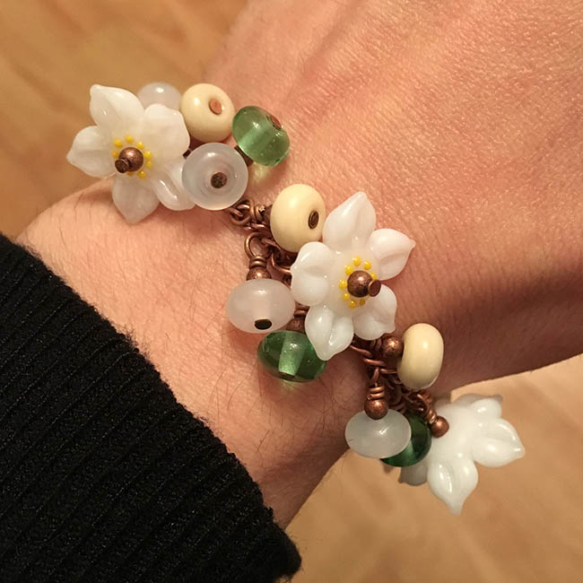 'Apple Blossom' Garland Bracelet