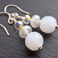 'Snowball' Earrings