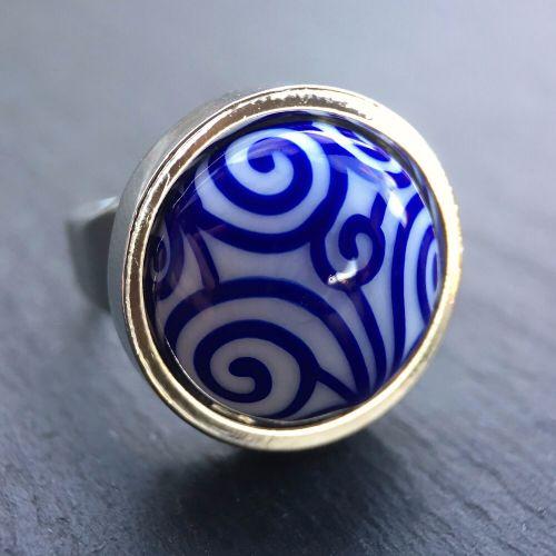 'Lapis Scrolls' Ring