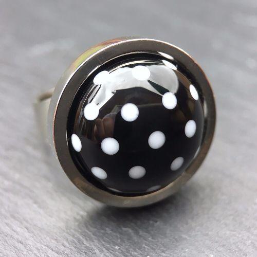 'Black & White' Ring