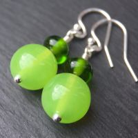 'Lime Jelly' Earrings