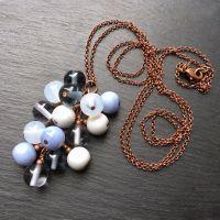 'Raincloud' Cluster Pendant Necklace