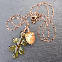 Moss 'Acorn & Oak Leaf' Necklace