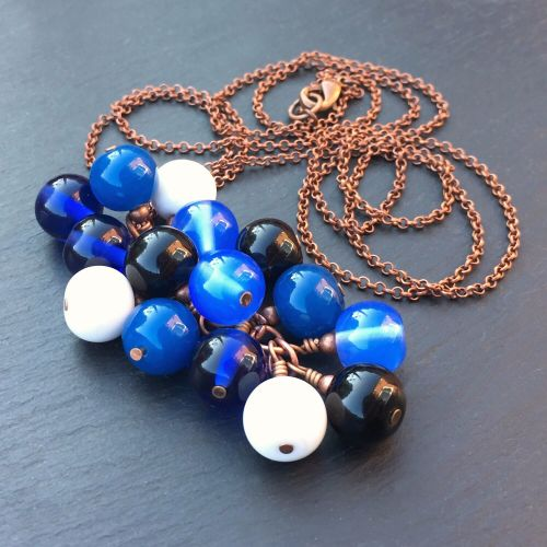 'TARDIS' Cluster Pendant Necklace