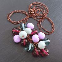 'Foxglove' Cluster Pendant Necklace