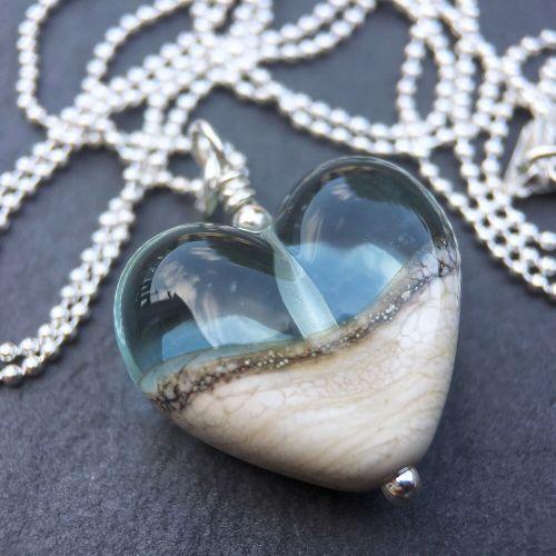 'Beach' Heart Necklace