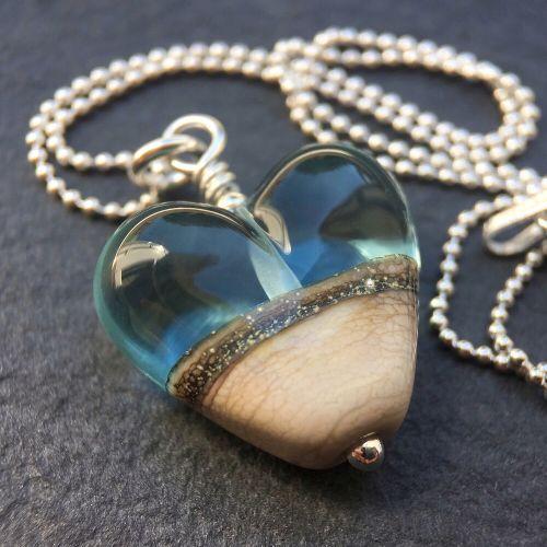 'Shoreline' Heart Necklace