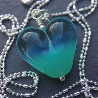'Saltwater' Heart Necklace