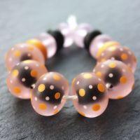 'Black & Rose' Luminobeads