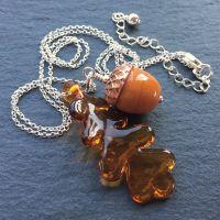 'Acorn & Oak Leaf' Necklace