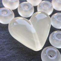 'Egg White' Heart & Spacers