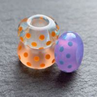 'Polka Dots' Big Hole Bead Trio