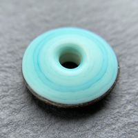 'Verdigris' Big Hole Discus Bead