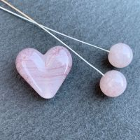 'Whisper' Heart & Headpin Pair