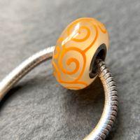 'Lemongrass' Silver Core Bead