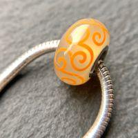 'Summer Haze' Silver Core Bead