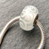 'Glow in the Dark' Silver Core Bead