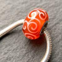 'Goldfish' Silver Core Bead